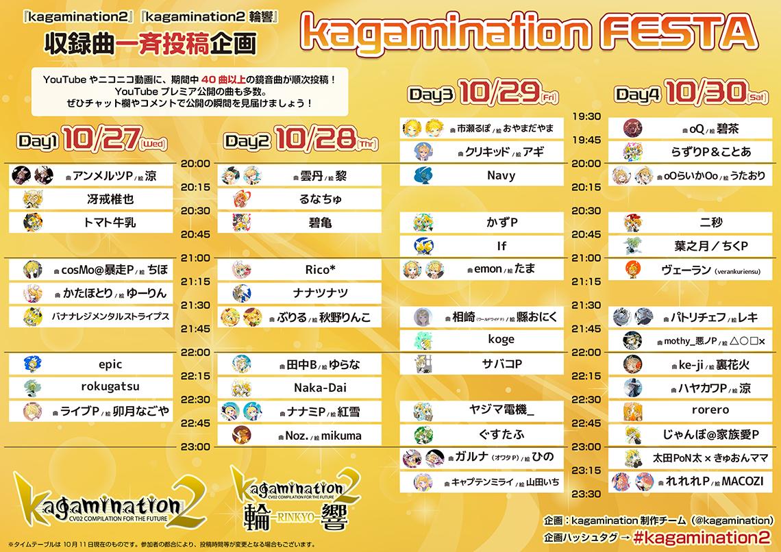 収録曲一斉投稿企画『kagamination FESTA』